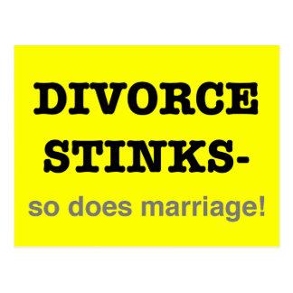 ¡Hedores del divorcio - hace tan boda! Tarjetas Postales