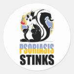 Hedores del psoriasis pegatinas redondas