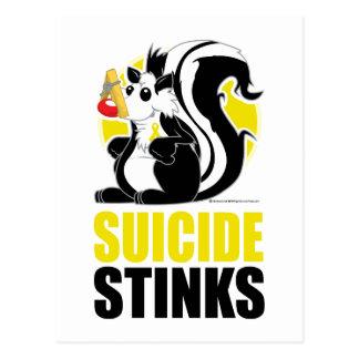 Hedores del suicidio tarjeta postal