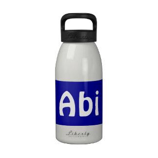 Hedrew Dad White Blue Water Bottle