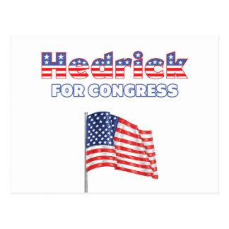 Hedrick for Congress Patriotic American Flag Desig Postcard