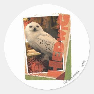 Hedwig 1 classic round sticker