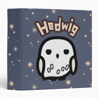 Hedwig Cartoon Character Art 3 Ring Binder