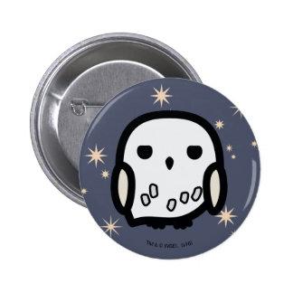 Hedwig Cartoon Character Art Button