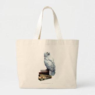 Hedwig en los libros bolsa lienzo