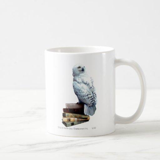 Hedwig en los libros taza