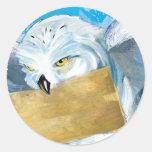 Hedwig Pegatina Redonda