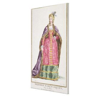 Hedwige marqués d Arquien a 1373-99 reinas de p Impresión De Lienzo