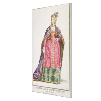 Hedwige, Marquise d'Arquien (1373-99) Queen of Pol Canvas Print