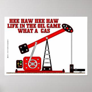 Hee Haw Hee Haw,Beam Pump Poster,Oil,