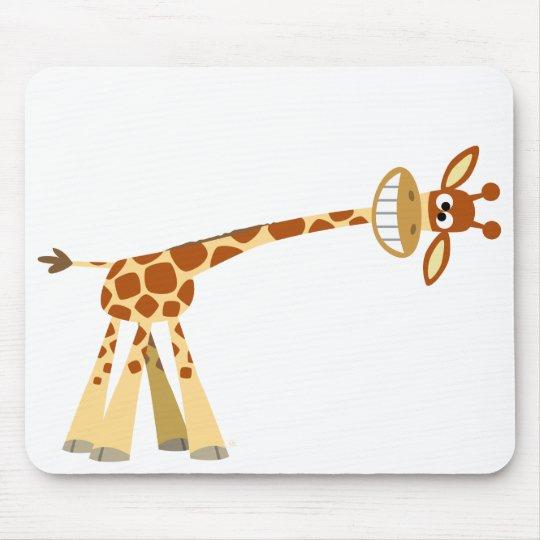 Hee Hee Hee!! cartoon giraffe mousepad
