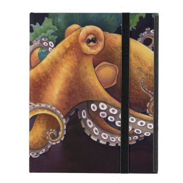 Beach Themed He'e (octopus) with Cowry (Dark) iPad Covers