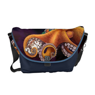 He'e (octopus) with Cowry (Dark) Messenger Bag