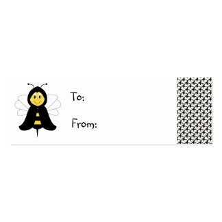HeeBee Bumble Bee Gift Tag Double-Sided Mini Business Cards (Pack Of 20)