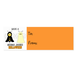 HeeBee JeeBee Halloween Gift Tag Double-Sided Mini Business Cards (Pack Of 20)