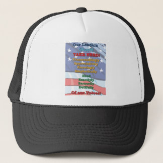 Heed our voices and Snap to it Trucker Hat