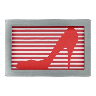 Heel on Red Stripes Belt Buckles