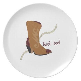 Heel, Toe Party Plates