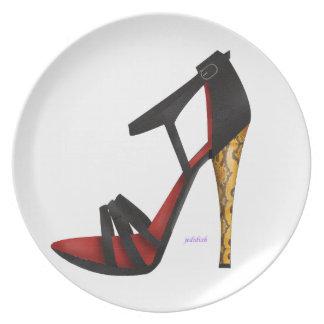 Heeled Evening Sandal Melamine Plate