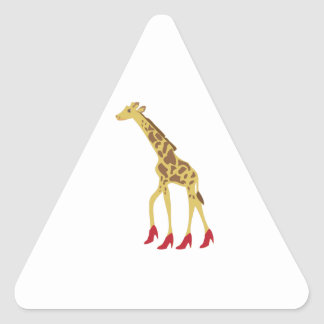 Heeled Giraffe Triangle Sticker