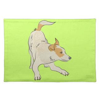 Heeler dog light tan so cute! place mat