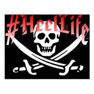 #HeelLife Skull Postcard