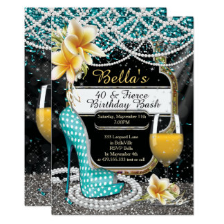 Heels and Drinks Ladies Birthday Invitations