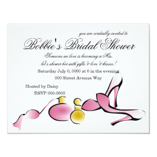 Heels and Perfume 4.25x5.5 Paper Invitation Card