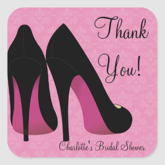 Heels Bridal Shower Party Favor Sticker