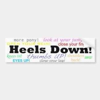 Heels Down! Car Bumper Sticker