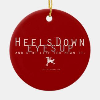 Heels Down Ceramic Ornament