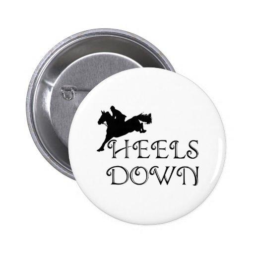 Heels Down with Jumper 2 Inch Round Button
