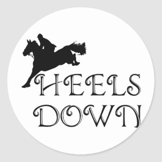 Heels Down with Jumper Stickers