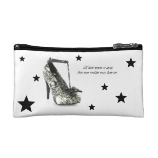 Heels makeup baggie cosmetic bag