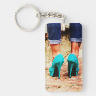 Heels of Fortune Double-Sided Rectangular Acrylic Keychain