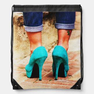 Heels of Fortune Drawstring Bag