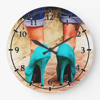 Heels of Fortune Large Clock