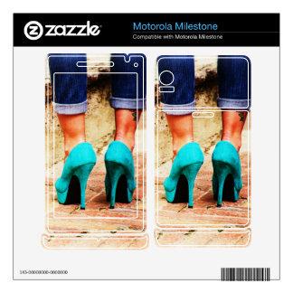 Heels of Fortune Motorola Milestone Decal