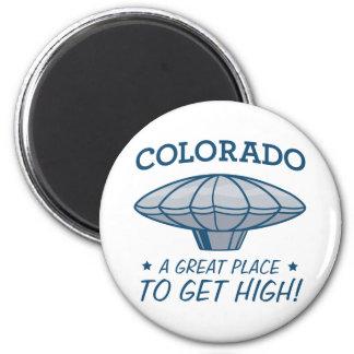 heene Colorado del halcón del muchacho del globo Imán Redondo 5 Cm
