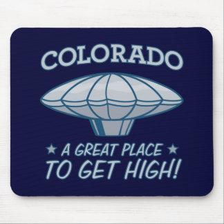 heene Colorado del halcón del muchacho del globo Tapetes De Raton