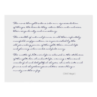 Hegel thinking vs nature quote postcards