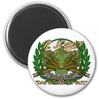 Heger Brewery 2 Inch Round Magnet