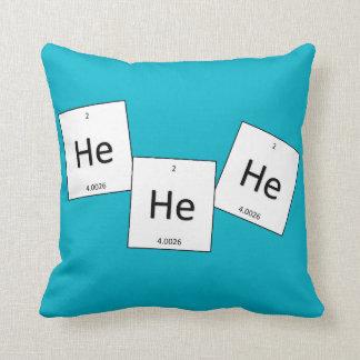 Hehehe Helium Laughing Gas Element Pun Pillow