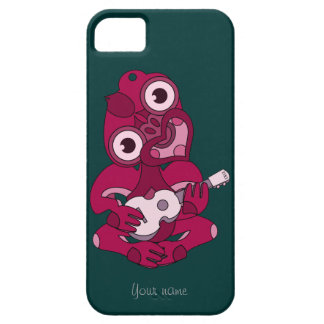 Hei rosado Tiki con el Ukulele rosado Funda Para iPhone SE/5/5s