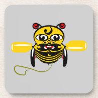 Hei Tiki Bee Toy Kiwiana Beverage Coaster