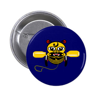 Hei Tiki Bee Toy Kiwiana Pinback Buttons