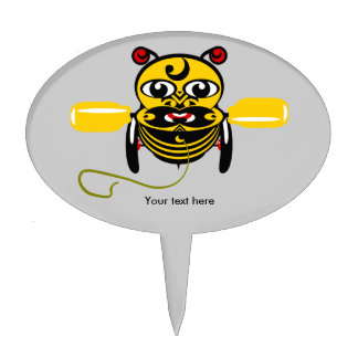 Hei Tiki Bee Toy Kiwiana Cake Picks