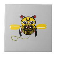 Hei Tiki Bee Toy Kiwiana Ceramic Tile