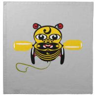 Hei Tiki Bee Toy Kiwiana Cloth Napkin