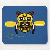 Hei Tiki Bee Toy Kiwiana Mouse Pads